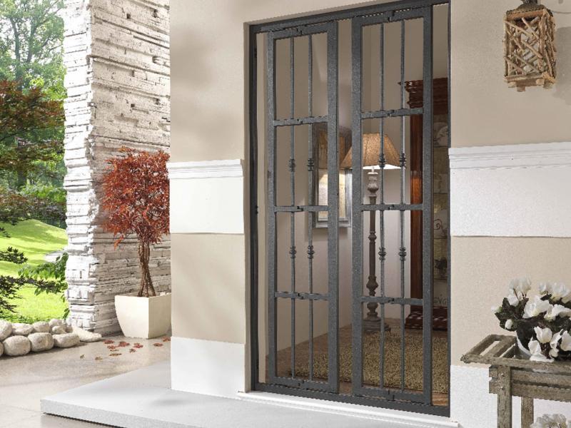 Inferriate ad anta il centro serramenti milano s n c di panighel giuseppe pavia giovanni - Inferriate per finestre milano ...